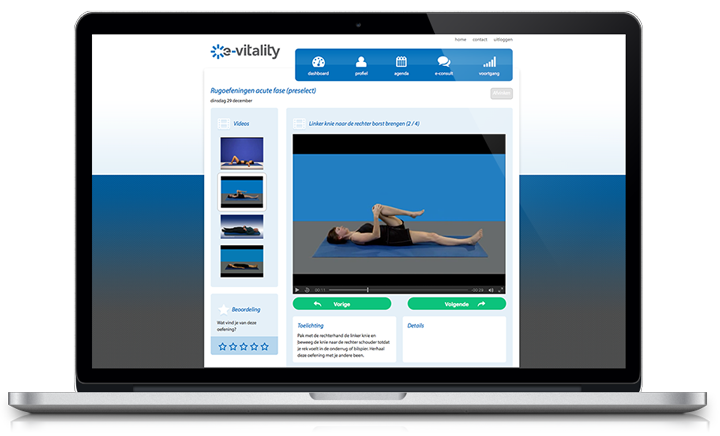 Video instructie e-Vitality